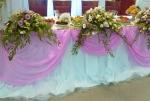 Декор свадьбы, стол молодых