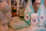 Свадебное шампанское мятного цвета