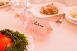 Карточка рассадки в розовом цвете